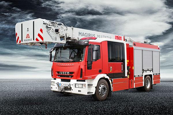 انواع ماشین آتشنشانی حامل نردبان