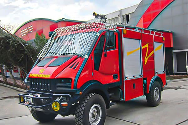 انواع ماشین آتش نشانی جنگلی