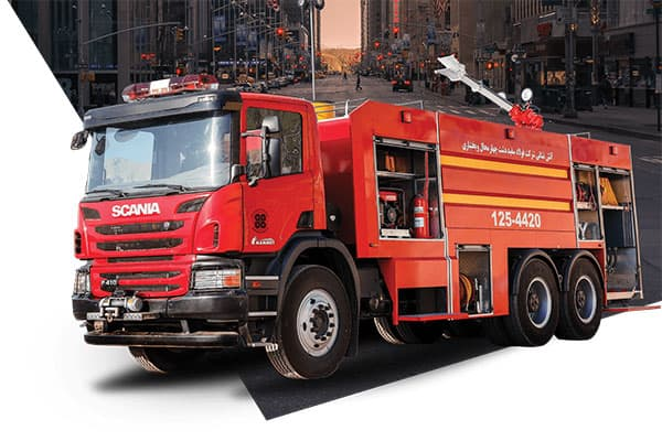 ماشین آتش نشانی صنعتی