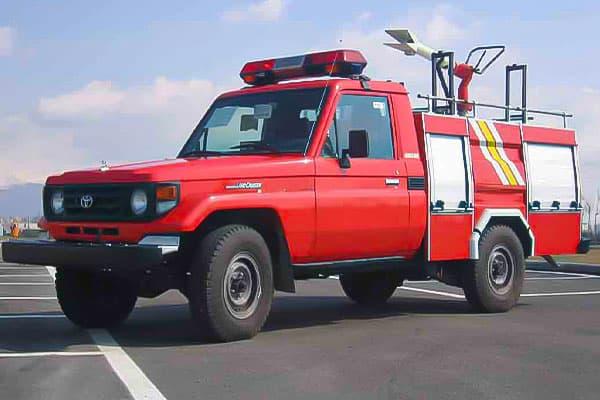 انواع ماشین آتش نشانی پشتیبانی