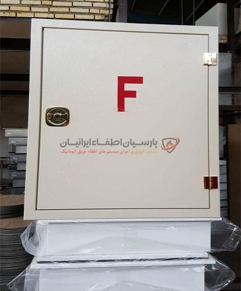جعبه آتش نشانی فلزی تک درب توکار