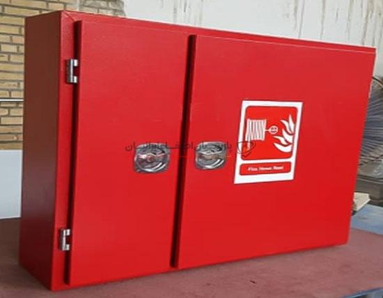 جعبه آتش نشانی دوقلو فلزی روکار