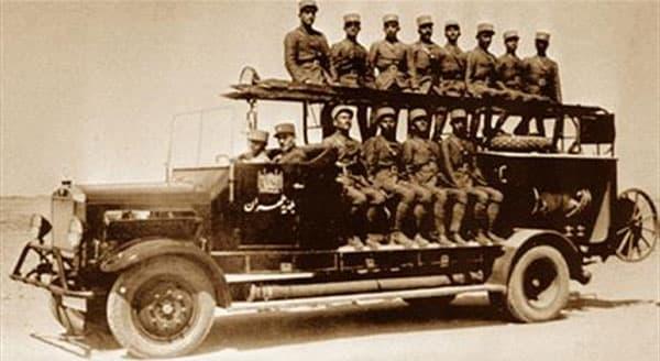 خودروی آتش نشانی اولیه در ایران